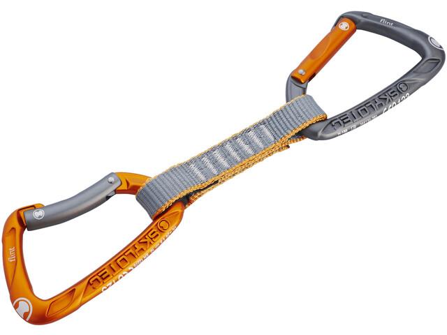 Skylotec Flint Express STD Expressschlinge 11cm light grey/orange